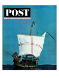 """Nina II,"" Saturday Evening Post Cover, January 26, 1963 Giclee Print by Larry Fried"