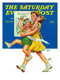 """Spring Pageant,"" Saturday Evening Post Cover, April 12, 1941 Giclee Print by Frances Tipton Hunter"