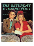 """Movie Date,"" Saturday Evening Post Cover, April 4, 1942 Giclee Print by Douglas Crockwell"