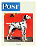 """""""Dalmatians,"""" Saturday Evening Post Cover, July 17, 1943 Giclée-tryk af Rutherford Boyd"""