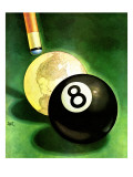 """World as Cue Ball,"" January 25, 1941 Giclee Print by Emmett Watson"