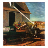 """Storing the Corn,"" November 6, 1948 Giclee Print by John Atherton"