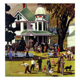 &quot;Family Reunion,&quot; October 20, 1945 Giclee Print by John Falter