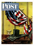 """Commemorating Lincoln's Birthday,"" Saturday Evening Post Cover, February 12, 1944 Giclee Print by John Atherton"
