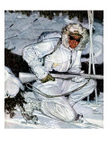 """Ski Patrol Soldier,"" March 27, 1943 Giclee Print by Mead Schaeffer"