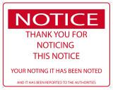 Notice the Notice Blechschild