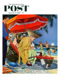 """Business at the Beach,"" Saturday Evening Post Cover, January 23, 1960 Giclee Print by James Williamson"