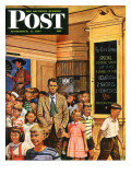 """""""After the Movie,"""" Saturday Evening Post Cover, September 6, 1947 Giclee Print by Stevan Dohanos"""