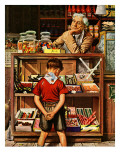 """Penny Candy,"" September 23, 1944 Giclee Print by Stevan Dohanos"