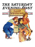 """Waiting for Mail,"" Saturday Evening Post Cover, July 6, 1940 Giclee Print by Douglas Crockwell"