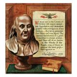 """Franklin Bust,"" January 17, 1948 Giclee Print by John Atherton"