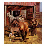 &quot;Blacksmith,&quot; July 13, 1946 Giclee Print by John Falter