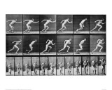 Athlete Starting on a Race Giclee Print by Eadweard Muybridge