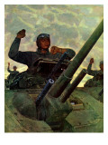"""Tank Attack,"" January 9, 1943 Giclee Print by Mead Schaeffer"