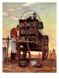 """Chuckwagon,"" September 14, 1946 Reproduction procédé giclée par Mead Schaeffer"