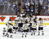 Boston Bruins - Celebration by Goal Photo