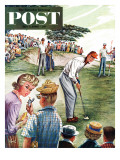 &quot;Distracted Pro Golfer,&quot; Saturday Evening Post Cover, July 2, 1960 Giclee Print by Constantin Alajalov
