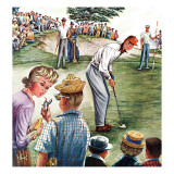 """Distracted Pro Golfer,"" July 2, 1960 Giclee Print by Constantin Alajalov"