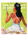 """""""Tan Lines,"""" Saturday Evening Post Cover, September 27, 1941 Giclee Print by Albert W. Hampson"""