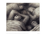 Four Grey Sleepers, 1941 Giclee Print by Henry Moore