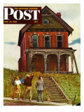 &quot;This Old House,&quot; Saturday Evening Post Cover, May 18, 1946 Reproduction proc&#233;d&#233; gicl&#233;e par John Falter