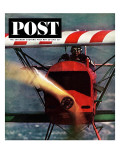 """1918 Fokker D-7,"" Saturday Evening Post Cover, May 18, 1963 Giclee Print by John Zimmerman"