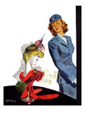 """WAC Admires Hat,"" September 26, 1942 Giclee Print by Gilbert Bundy"