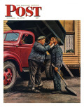 """Speck of Coal,"" Saturday Evening Post Cover, October 18, 1947 Giclee Print by Stevan Dohanos"