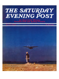 """Airplane Takeoff,"" Saturday Evening Post Cover, April 6, 1940 Giclée-Druck von Charles De Soria"