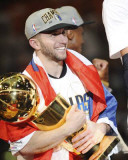 Dallas Mavericks - J.J. Barea w/ Championship Trophy Photo