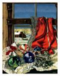 """""""Christmas Ornaments,"""" December 18, 1943 Reproduction procédé giclée par John Atherton"""