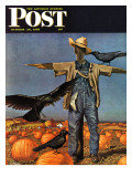 """Scarecrow,"" Saturday Evening Post Cover, October 26, 1946 Reproduction procédé giclée par John Atherton"