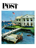 """Yacht Club,"" Saturday Evening Post Cover, June 23, 1962 Giclee Print by George Hughes"