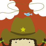 Peek-a-Boo Heroes: Cowgirl Posters by Yuko Lau