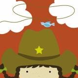 Peek-a-Boo Heroes: Cowgirl Poster by Yuko Lau