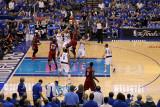 Miami Heat v Dallas Mavericks - Game Four, Dallas, TX -June 7: Chris Bosh and Dirk Nowitzki Photographic Print by Tom Pennington