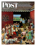 """Country Auction,"" Saturday Evening Post Cover, August 5, 1944 Giclee Print by John Falter"
