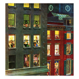 """Apartment Dwellers on New Year's Eve,"" January 3, 1948 Giclee Print by John Falter"