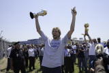 Mavericks Return to Dallas as NBA Champions, DALLAS, TX - June 13: Dirk Nowitzki Photographic Print by Glenn James