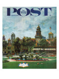 """Kansas City,"" Saturday Evening Post Cover, September 23, 1961 Giclee Print by John Falter"