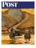 """""""Westward Tow,"""" Saturday Evening Post Cover, May 29, 1948 Giclee Print by Mead Schaeffer"""