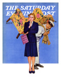 """New Chair,"" Saturday Evening Post Cover, April 25, 1942 Giclee Print by Gene Pelham"