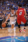 Miami Heat v Dallas Mavericks - Game Four, Dallas, TX -June 7: Jose Barea and Mike Bibby Photographic Print by Andrew Bernstein