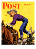 """Woman at Dude Rance,"" Saturday Evening Post Cover, June 20, 1942 Giclee Print by Fred Ludekens"