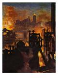 """Steel Mills,"" November 23, 1946 Giclee Print by John Atherton"