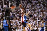 Dallas Mavericks v Miami Heat - Game Six, Miami, FL - June 12: Dwyane Wade and Dirk Nowitzki Photographic Print by Mike Ehrmann