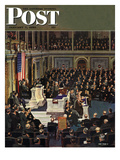 """Joint Session of Congress,"" Saturday Evening Post Cover, January 7, 1950 Giclee Print by John Falter"