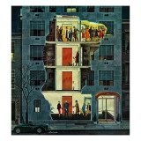 """Party Holding Up the Elevator,"" February 25, 1961 Giclee Print by Ben Kimberly Prins"