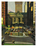 """Pershing Square,"" May 19, 1945 Giclee Print by John Falter"