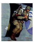 &quot;Paratrooper,&quot; September 12, 1942 Giclee Print by Mead Schaeffer
